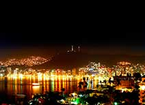Nighttime Panorama in Acapulco