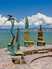Sculptures in Puerto Vallarta
