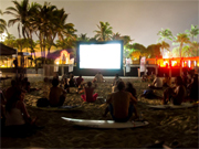 Movies on the beach at the Surf Open Acapulco