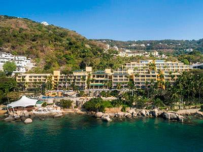 Map Location of Camino Real Acapulco Diamante Hotel Acapulco Mexico