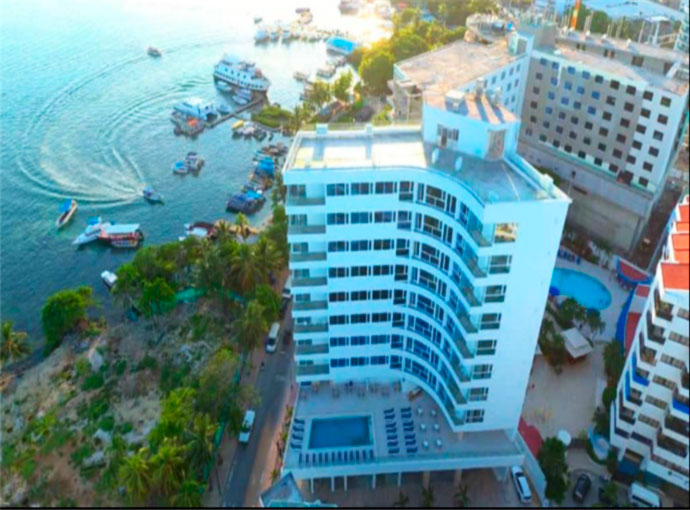 Map Location Of Samawi Hotel San Andres Colombia