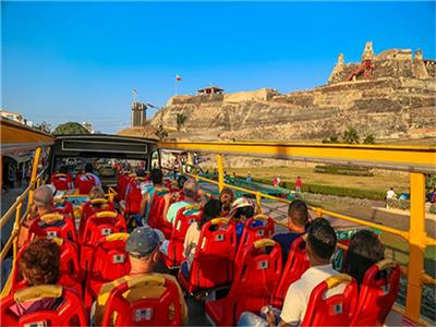 2-story Sightseeing Tourist Bus of Cartagena City Tour