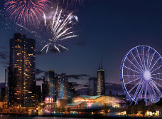 Navy Pier Centennial Wheel and Rides