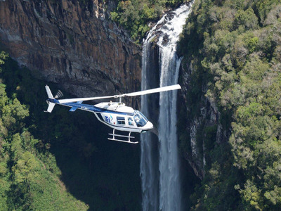 Caracol Waterfall Helicopter Tour